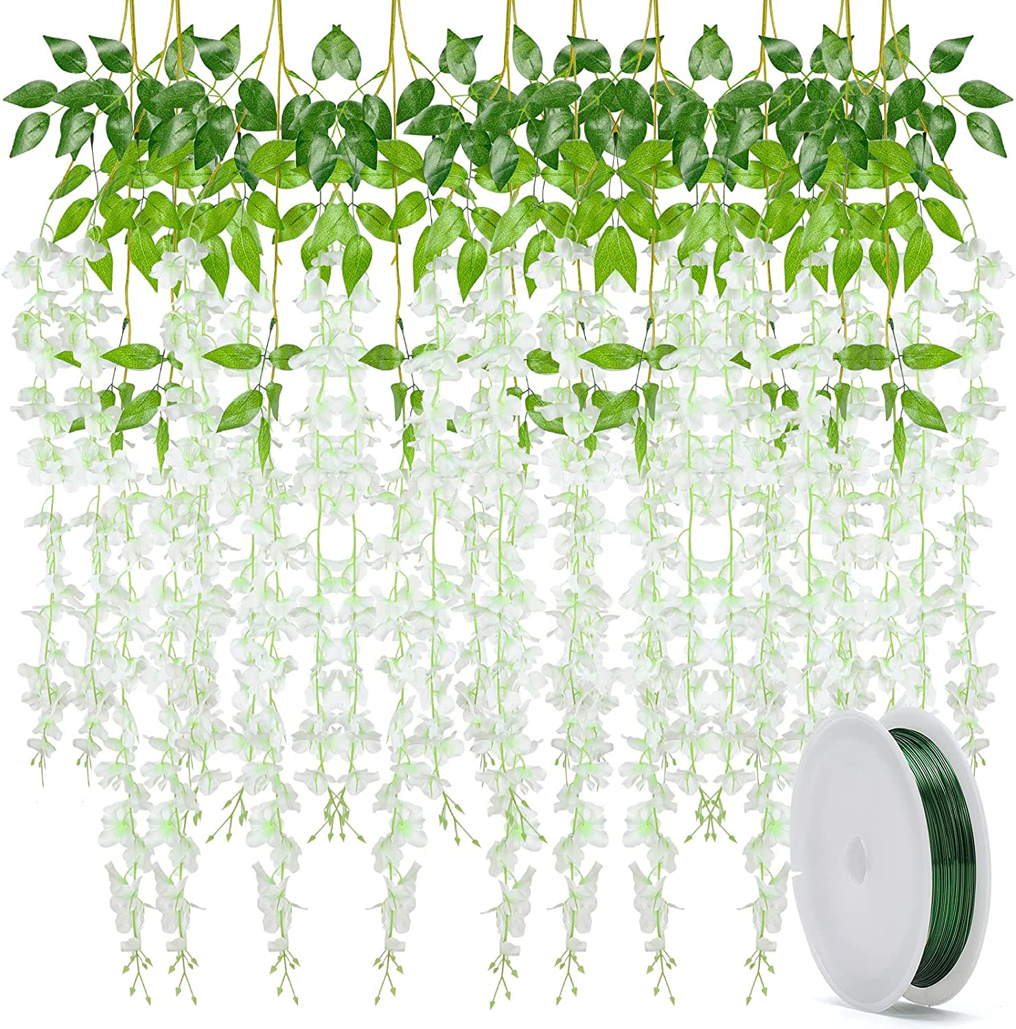 BigOtters Reservation 10 Pack 3.6 Feet Flower Special price White Artificial Wisteria Fak