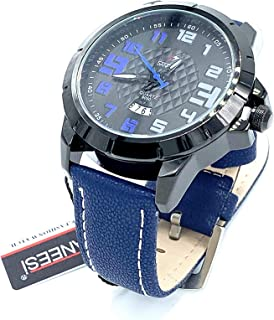 SANEESI Casual Watch For Men Analog Leather - MNW202017