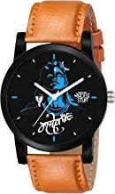 Swadesi Stuff Analogue Black Dial Leather Strap Mahadev Watch for Men and Boy