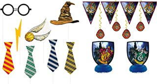 Harry Potter Children`s Birthday Party Supply Set Includes 7 pc Decoration Kit and 8 pc Photo Props