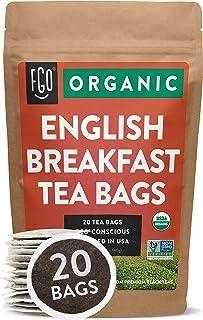 Sponsored Ad - Organic English Breakfast Black Tea Bags | 20 Tea Bags | Chinese Keemun & Indian Assam Blend | Eco-Consciou...