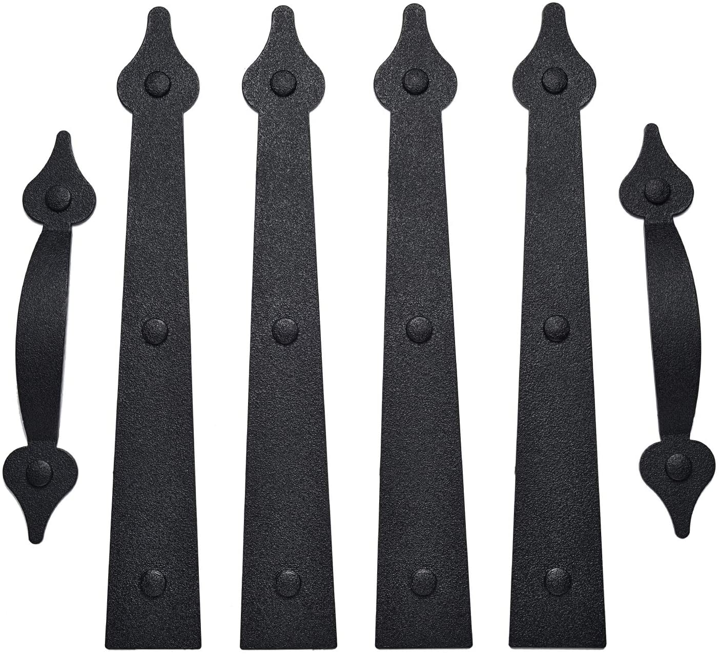 Garage Door Magnetic Decorative Hardware Carriage Accents Faux Hinges Handle Kit Curb Appeal Decor,Pack of 1,Color Black