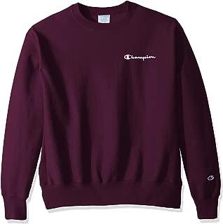 Champion LIFE Men's Reverse Weave Sweatshirt, Venetian Purple-Left Chest c Script, 2X Large