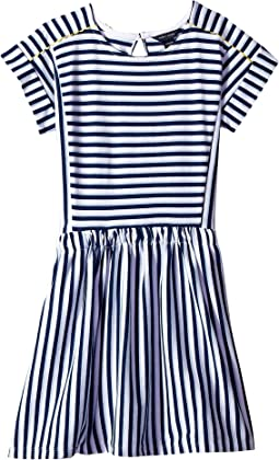 Stripe Pieced Dress (Big Kids)