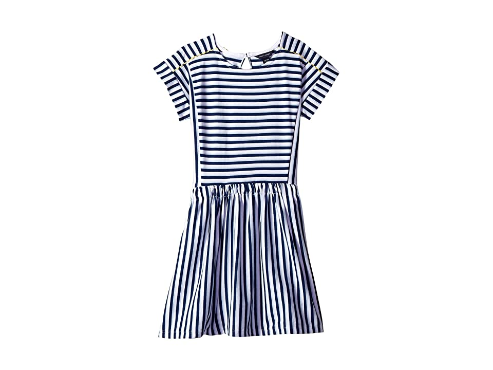 Tommy Hilfiger Kids Stripe Pieced Dress (Big Kids) (Flag Blue) Girl