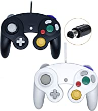 Poulep Wired Controller for Gamecube Game Cube, Classic Ngc Gamepad Joystick for Wii Nintendo Console (Black and White)