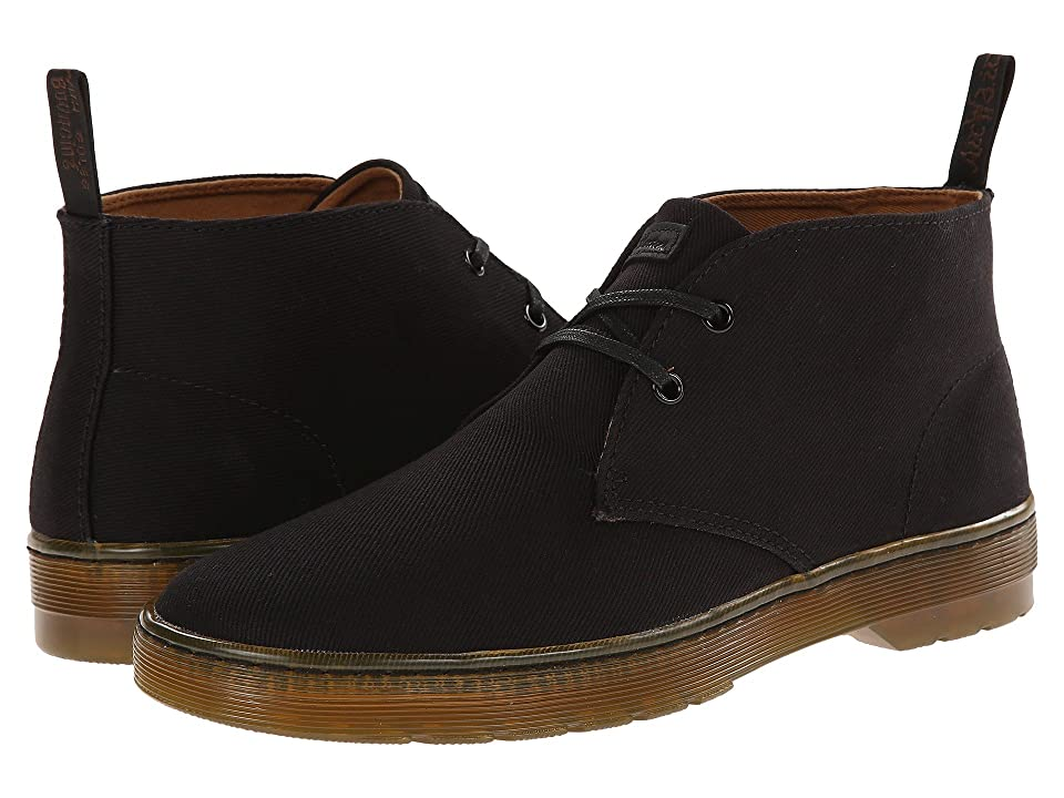 Dr. Martens Mayport 2-Eye Desert Boot (Black Overdyed Twill Canvas) Men