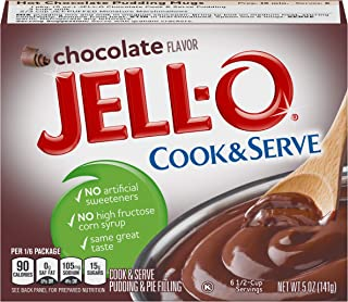 JELL-O Chocolate Pudding & Pie Filling (5 oz Boxes, Pack of 24)