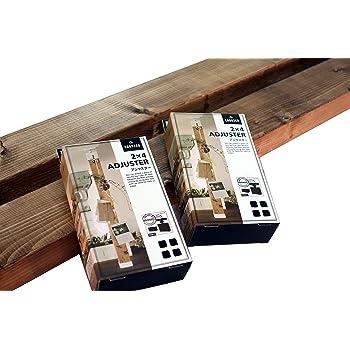 ☆2本セット☆ BRIWAX塗装済みツーバイ材【240センチ】+ LABRICO(ブロンズ)セット販売【木材は長さカット無料!】