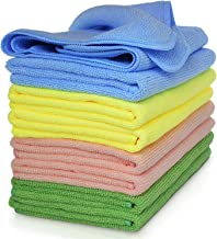 Microfiber Cleaning Cloth, Large Size 40 x 40 cm, Trap Dust & Dirt. Car, Bathroom & Kitchen Cleaning & polishing Towel. Ma...