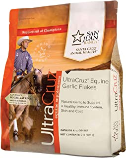 UltraCruz Equine Garlic Flakes Supplement for Horses, 2 lb (90 Day Supply)