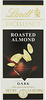 Lindt Chocolate Excellence Roasted Almond Chocolate Bar, 3.5-Ounce (Pack of 12)