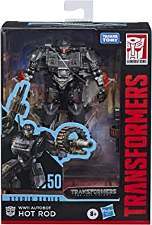 Transformers Toys Studio Series 50 Deluxe The Last Knight Movie WWII Autobot Hot Rod Action Figure - Ages 8 & Up, 4.5