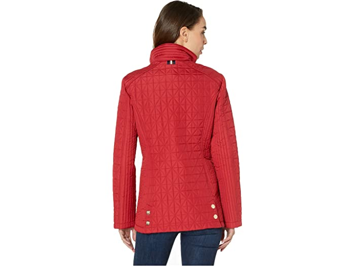 """Vince Camuto 28"""" Quilted Jacket V19704 Carmine Red Cos & Outerwear"""