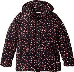 Holly Printed Water Repellant Zip Hooded Jacket (Little Kids/Big Kids)