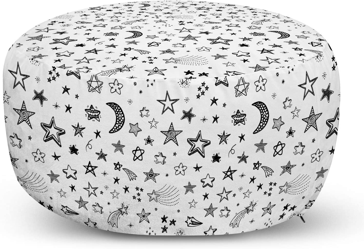 Popular popular Ambesonne Cartoon New Orleans Mall Pouf Cover with Zipper Crescent and Moo Stars