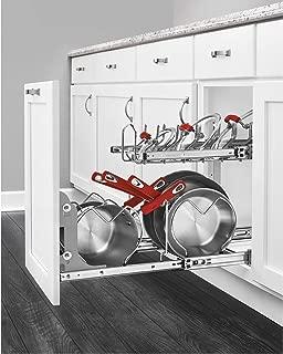 Rev-A-Shelf 5CW2 Series 21 Inch 2 Tier Wire Organizer for Cookware, Chrome