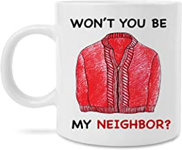 MugBros Mr Rogers Neighborhood Wont You Be My Neighbor 11 Ounce Coffee or Tea Mug