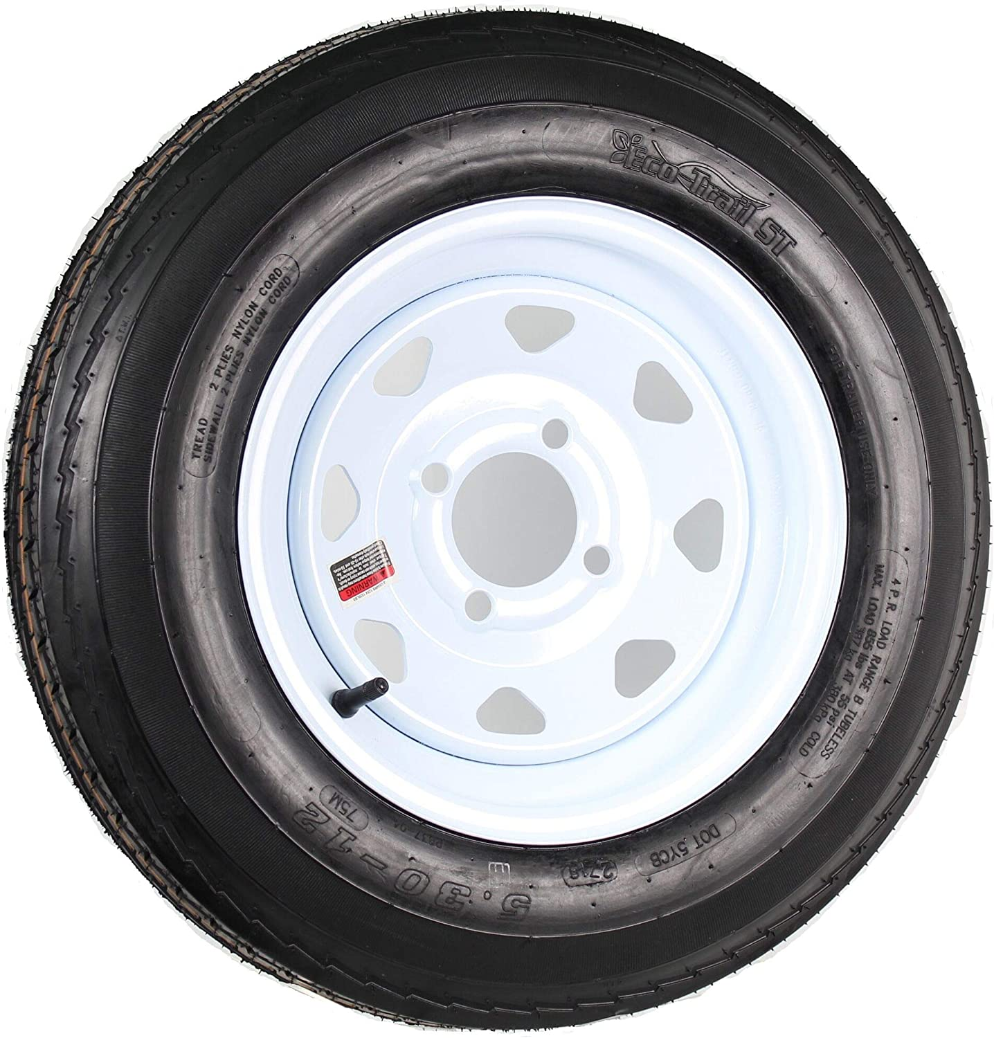 New 12 Inch 4 on 100 White Spoke Easy-to-use 100% quality warranty! Wheel Mounted With Trailer 5.30