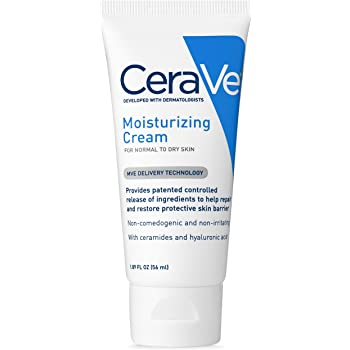 CeraVe Moisturizing Cream | 1.89 Ounce | Travel Size Face and Body Moisturizer for Dry Skin , ivory
