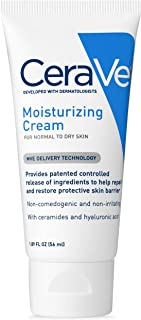 CeraVe Moisturizing Cream | 1.89 Ounce | Travel Size Face and Body Moisturizer for Dry Skin