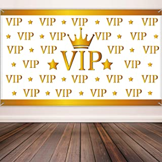 Awards Night Party Decorations VIP Backdrop Banner Red Carpet Backdrop Film Movie Banner for Hollywood Decorations, 72.8 x 43.3 Inch