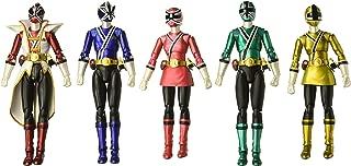 Bandai Tamashii Nations S.H. Figuarts Power Rangers Samurai SDCC 2013 Metallic Set of 5 Power Rangers Samurai Action Figure Set