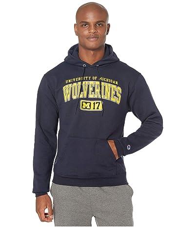 Champion College Michigan Wolverines Eco(r) Powerblend(r) Hoodie (Navy 2) Men