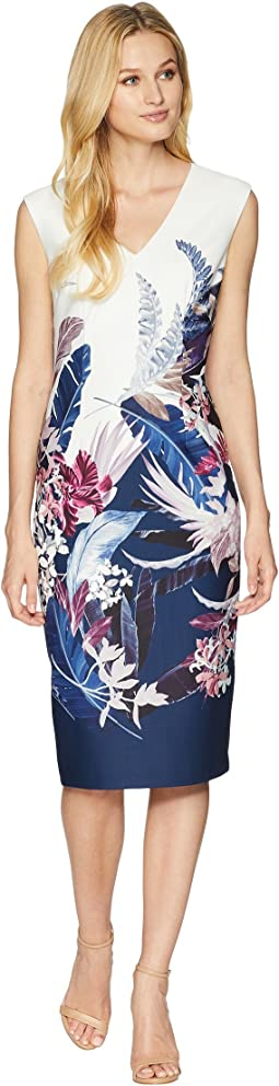 Tropical Essence Printed Sheath Dress