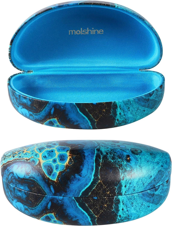 molshine Hard Shell Sunglasses Case,Classic Extra Large Case for Oversized Sunglasses and Normal Size Eyeglasses