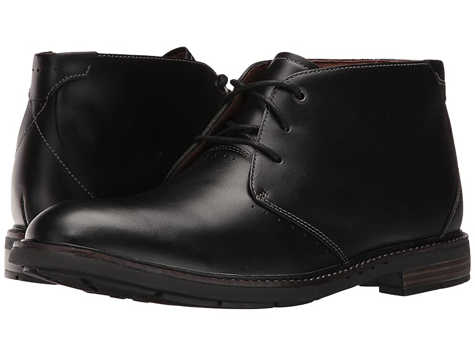 Clarks Un.Elott Mid (Black Leather) Men