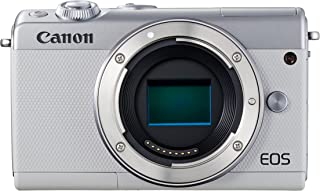 Canon EOS M100 - Cámara Evil compacta de 24.2 MP (LCD FHD Bluetooth WiFi/NFC Dual Pixel AF DIGIC 7) Blanco - Solo Cuerpo