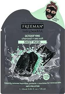 Freeman Facial Charcoal+Sea Salt Detoxify Sheet Mask (6 Pieces)