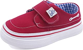 Henraly Kids Washable Denim Hook-and-Loop Classic Canvas Shoes Flat Loafers (Toddler/Little Kid)