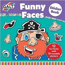 Galt Toys Funny Faces Sticker Book