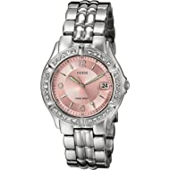 Women's Stainless Steel Two-Tone Crystal Accented Watch
