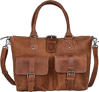 Antonio Valeria Beck Hunter Leather Top Handle Bag for Women