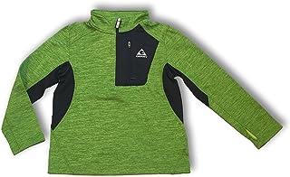 Gerry Kids Youth Boys Quarter Zip Lightweight Athletic Fleece Lined Sweatshirt Jacket (Small (7/8), Algae Green Heather/Bl...