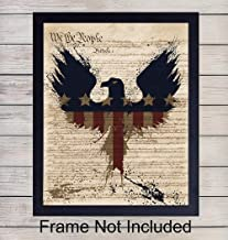 Upcycled Dictionary Wall Art Print - 8X10 Vintage Unframed Photo - US Constitution Gift For Patriotic Americana Fans -Great For Office and Home Decor - Memorial, Veterans, President's Day -4th of July