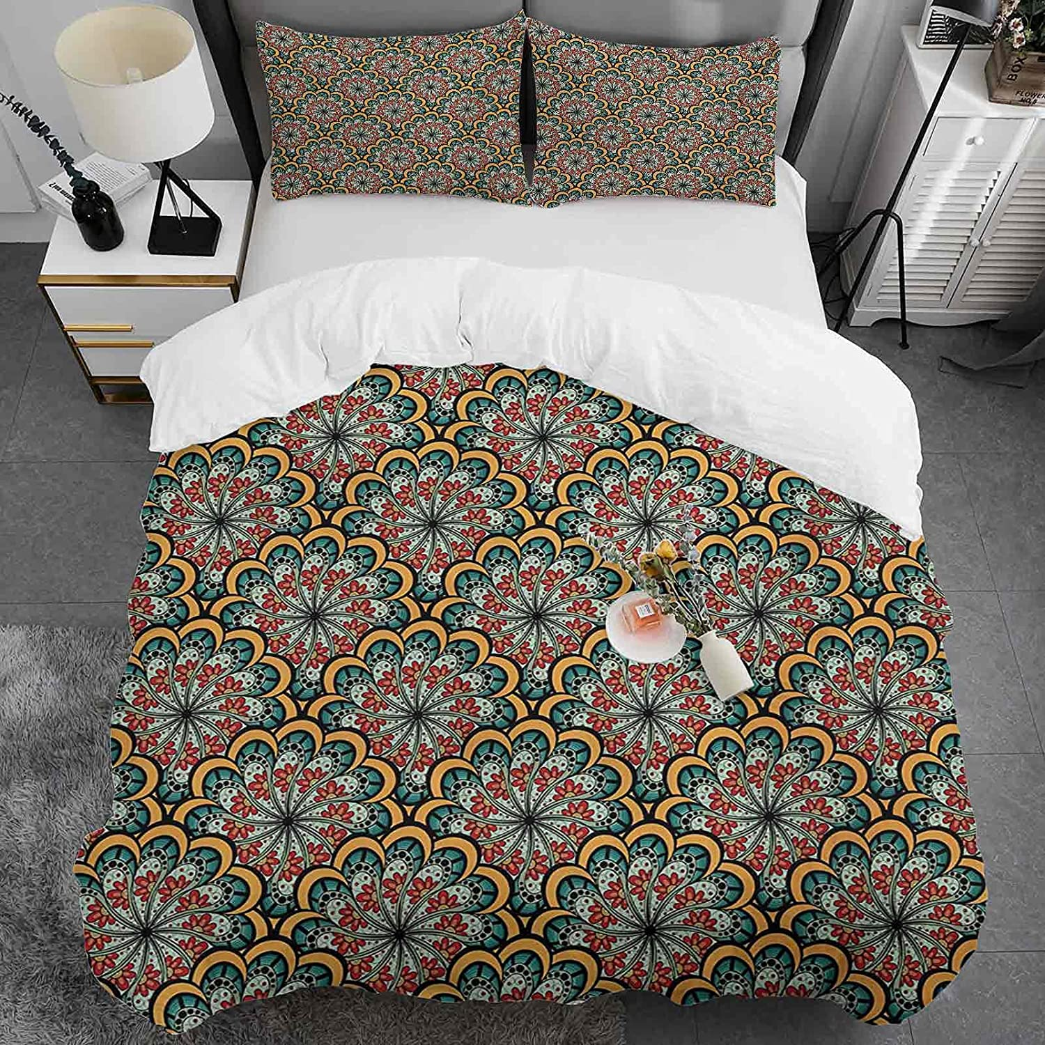 Max 64% OFF Paisley Duvet Cover Full Size Outlet ☆ Free Shipping Design Wavy L Flowers Flourishing