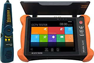 EVERSECU 8 Inch All in One Retina Display IP Camera Tester Security CCTV Tester Monitor with SDI/TVI/AHD/CVI/Multimeter/TDR/OPM/VFL/POE/WIFI/4K H.265