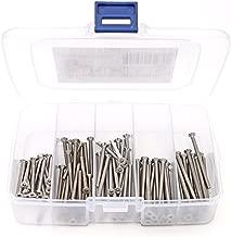iExcell 100 Pcs M3 x 30mm/35mm/40mm/45mm/50mm Stainless Steel 304 Hex Socket Flat Head Cap Screws Kit