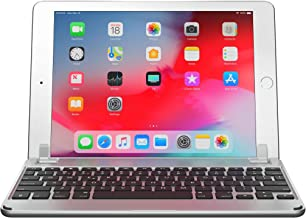 Brydge 9.7 iPad Keyboard, Aluminum Bluetooth Keyboard for 9.7 inch iPad (6th Gen), 5th Gen iPad (2017), iPad Pro 9.7 inch, Air 1 and 2 (Silver)