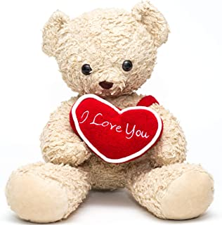 "Bears For Humanity 16"" I Love You Bear, Cream"