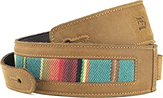 Southwest Inspired Full Grain Leather Guitar Strap - For Electric, Acoustic, and Bass Guitars - El Camino by Anthology Gear (2