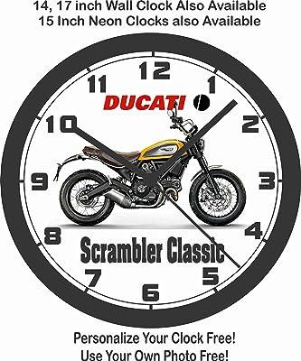 amazon 2017 ducati scrambler cafe racer wall clock free us ship Cafe Racer Ton Up 2017 ducati scrambler classic wall clock free usa ship