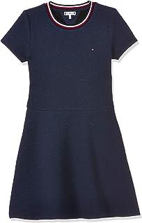 Tommy Hilfiger Girl's Jacquard Skater Dresses, Blue