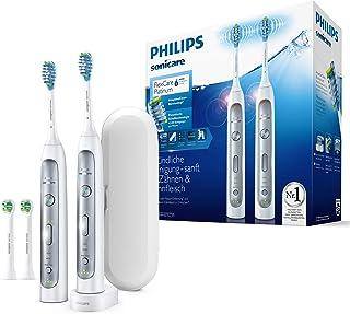 Philips Sonicare FlexCare Platinum 2 Elektrikli Diş Fırçası HX9114/37 Sette - 2 El parçası, 4 Fırça Başlığı, Basınç Sensörü, 3 Sıva Programı, 3 Yoğunluk, Zamanlayıcı ve Kılıf - Beyaz