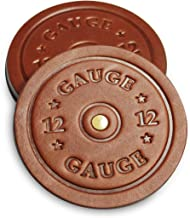 product image for Shotgun Shell Coasters - Leather Coasters Set of 4 - Rustic Coasters