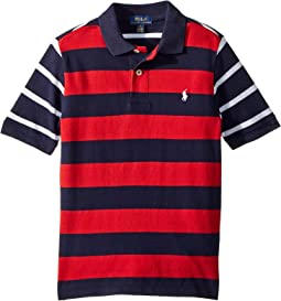 Striped Cotton Mesh Polo Shirt (Little Kids/Big Kids)